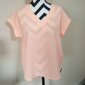 The Limited peachy/pink Blouse